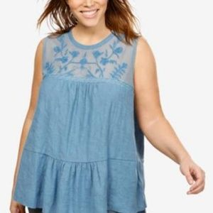 NEW Lucky Brand Tank Top Plus Size 2X